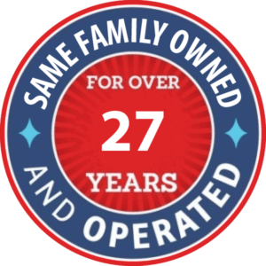 Family Owned Over 27 Years
