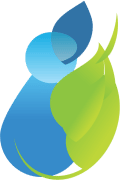 Green Water Drop Leaf Small Icon